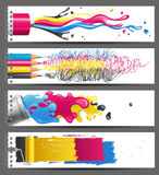 CMYK banners Stock Photos
