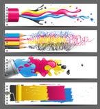 CMYK banners Stock Photos