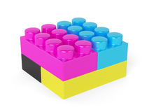 CMYK block concept  on white Royalty Free Stock Photography