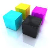 CMYK blocks Stock Image