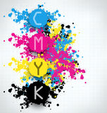 CMYK blots abstract background Stock Images
