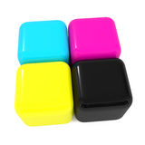 CMYK boxes Stock Photos