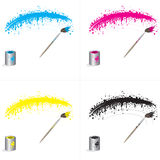 CMYK brushes Stock Photo