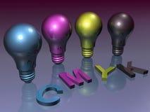CMYK bulb Stock Photo