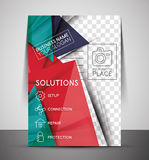 CMYK Business Corporate Flyer Template Stock Image