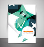 CMYK Business Corporate Flyer Template Royalty Free Stock Photo