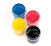 CMYK - Can with a paint Royalty Free Stock Photos