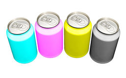 CMYK cans Stock Images