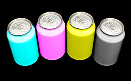 CMYK cans Royalty Free Stock Photography