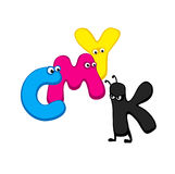 CMYK - cartoon letters Royalty Free Stock Photos