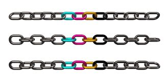 Cmyk chains Royalty Free Stock Photos