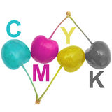 CMYK cherries Royalty Free Stock Photo