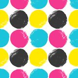CMYK circles pattern Royalty Free Stock Photography