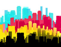 CMYK city print service background Stock Photo