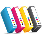 CMYK CMJN Ink toners. Cartridges icon. Stock Photography