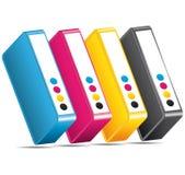 CMYK CMJN Ink toners. Cartridges icon. Stock Photography
