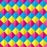 Cmyk coberto sem emenda Diamond Shapes Pattern Imagem de Stock Royalty Free