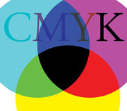 CMYK Color and Background Stock Photography