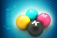Cmyk color ball Royalty Free Stock Photography