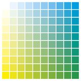 Color chart yellow cyan print production color guide ink catalog Stock Photos