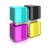 Cmyk Color Concept Royalty Free Stock Photo