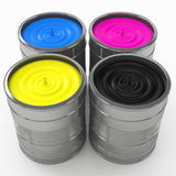 CMYK color concept Royalty Free Stock Photography