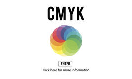 CMYK Color Emblem Symbol Concept Royalty Free Stock Photography