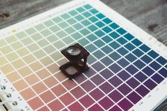 cmyk color management linen tester Stock Photography