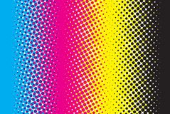 Abstract CMYK background. CMYK color mode structure with dots Royalty Free Stock Images