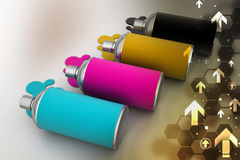 Cmyk color Paint bottles Royalty Free Stock Image