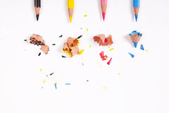 Cmyk color pencils on white background Stock Photography