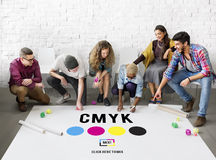 CMYK Color Printing Ink Color Model Concept Royalty Free Stock Image