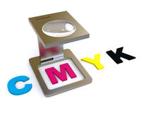 CMYK Color Proof Stock Image