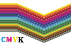 CMYK color spectrum Stock Photography