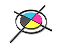 CMYK color target Stock Photos