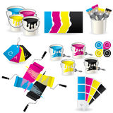 CMYK coloring set Royalty Free Stock Photos