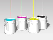 Cmyk colors. Bin 3d illustration Stock Photography
