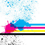 Cmyk colors. Paint splashes with cmyk colors Royalty Free Stock Image