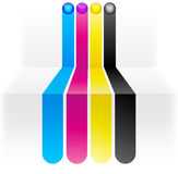 CMYK colors. Abstract lines illustration a CMYK colors Royalty Free Stock Photo