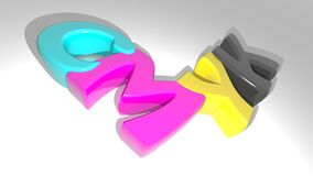 CMYK colors Immagini Stock