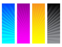 CMYK colors. Vector illustration of CMYK colors Royalty Free Stock Images
