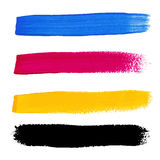 CMYK colors acrylic stains Royalty Free Stock Image