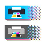 CMYK colors 4 royalty free stock images