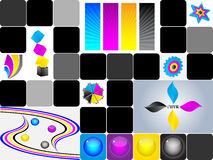 CMYK colors collage Royalty Free Stock Photo