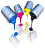 Cmyk colors Stock Images