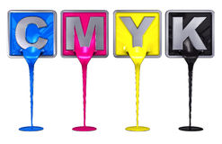 Cmyk colors Royalty Free Stock Photography