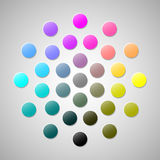CMYK colors 2. Illustration in vector Royalty Free Stock Image