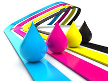 CMYK concept Royalty Free Stock Photo