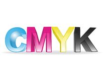 CMYK concept Royalty Free Stock Photos