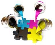 CMYK Concept Stock Photos